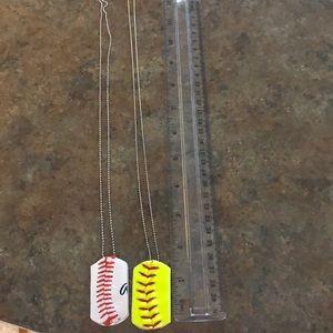 Jewelry - Handmade Baseball/Softball Dog Tags